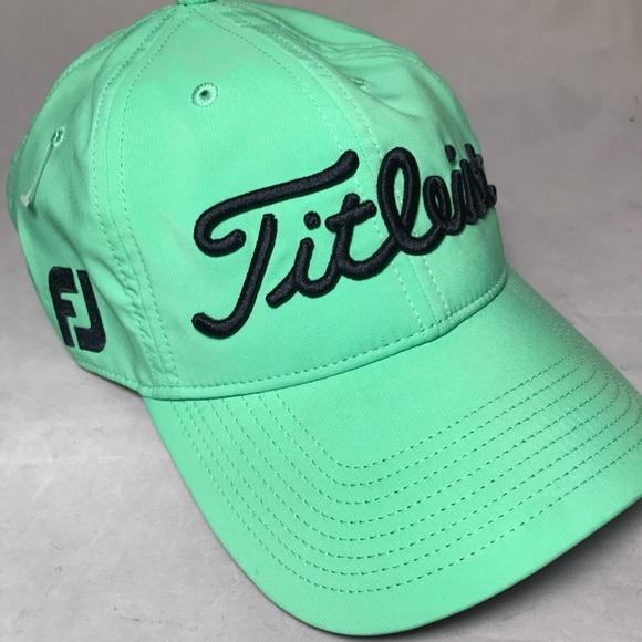 ffde84c560f Titleist Pro V1 FootJoy FJ Golf Hat Cap Green. M 5b3b8de3c89e1d6ff3c4b495.  Other Accessories ...